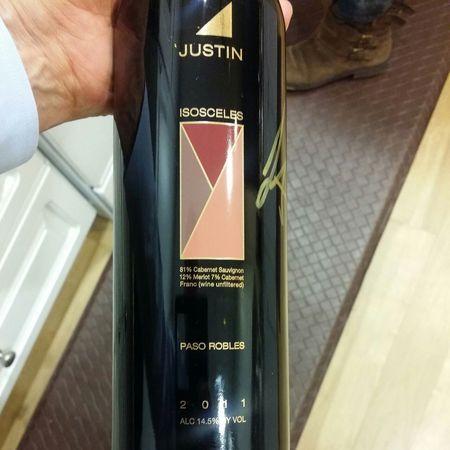 Justin Vineyards & Winery Isosceles Paso Robles Cabernet Sauvignon Blend 2011