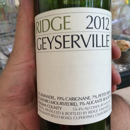 Ridge Vineyards Geyserville Vineyard Zinfandel Blend NV