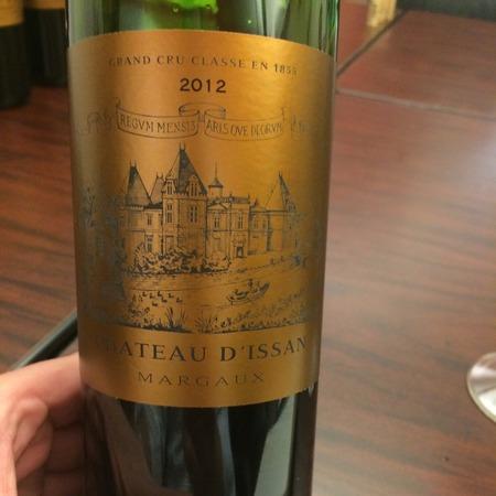 Château d'Issan Margaux Red Bordeaux Blend 2012