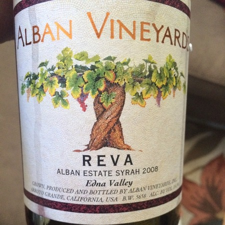 Alban Vineyards Reva Alban Estate Vineyard Syrah 2012