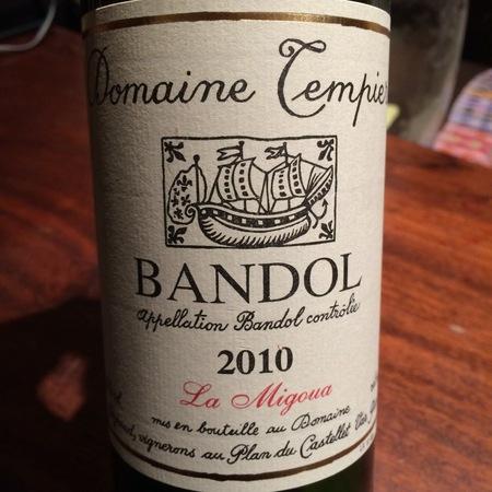 Domaine Tempier La Migoua Bandol Mourvedre Blend 2015