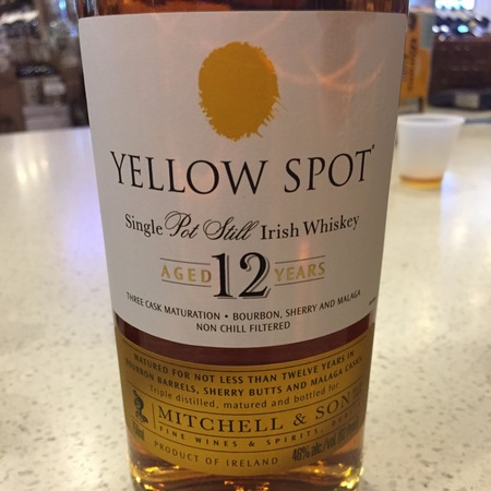 Midleton  Yellow Spot 12 Years Aged Single Pot Still Irish Whiskey NV