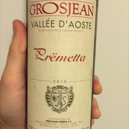 Grosjean Frères Vallée d'Aoste Prëmetta Rosé 2015