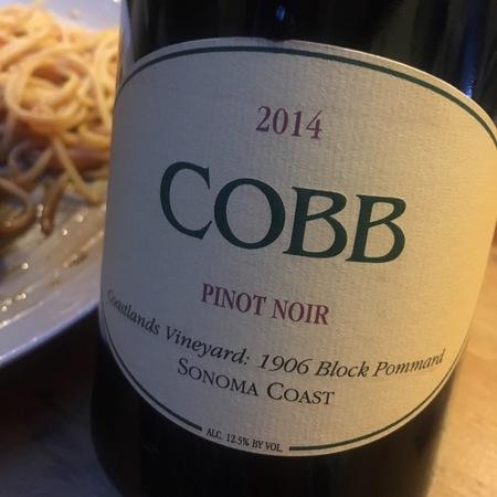 Cobb 1906 Block Pommard Coastlands Vineyard Pinot Noir 1906