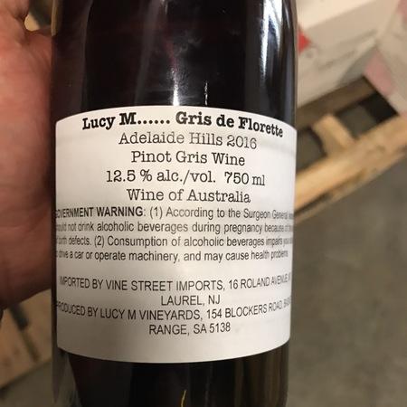 Lucy Margaux Vineyards Gris de Florette Adelaide Hills Pinot Gris  2016