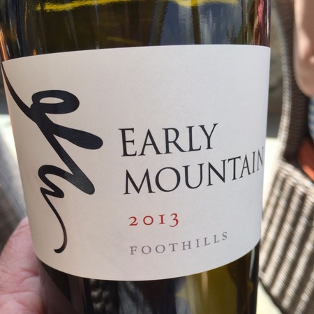 Early Mountain Foothills Red Blend 2016
