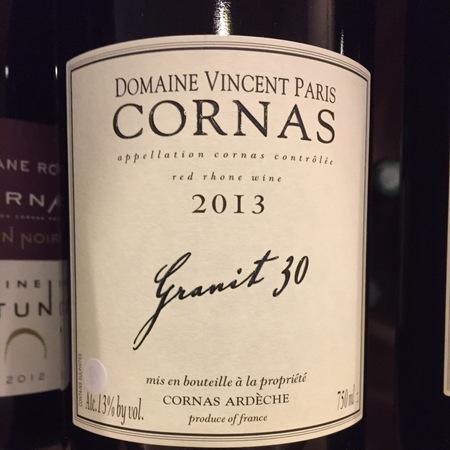 Domaine Vincent Paris Granit 30 Cornas Syrah 2013