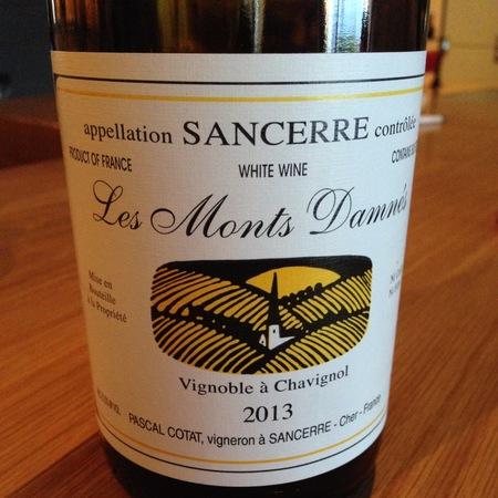 Domaine Pascal Cotat Les Monts Damnés Sancerre Sauvignon Blanc 2015