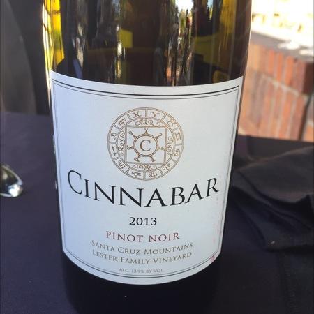 Cinnabar Santa Cruz Mountains Pinot Noir 2014