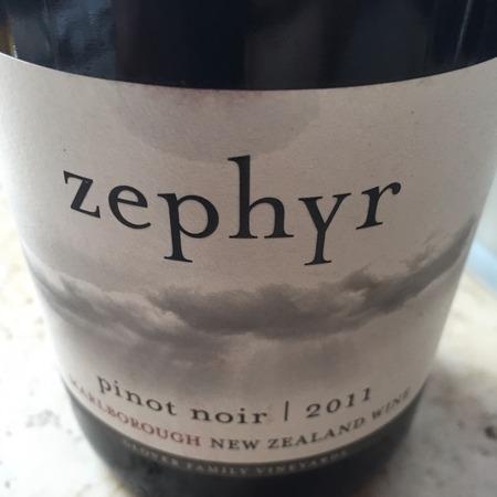 Glover Family Vineyards Zephyr Pinot Noir 2014