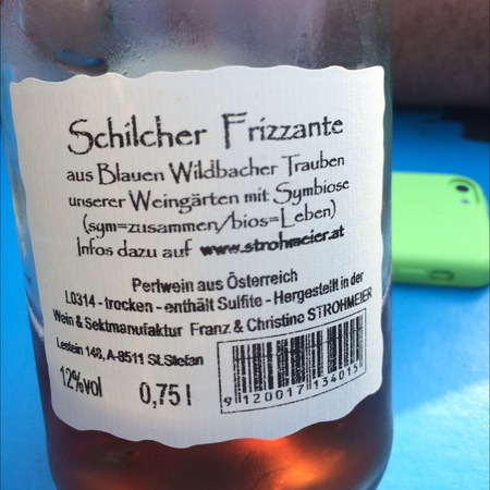 Franz Strohmeier Schilcher Frizzante Symbiose NV