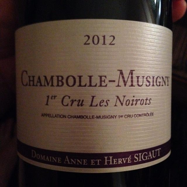 Les Noirots Chambolle-Musigny 1er Cru Pinot Noir 2012