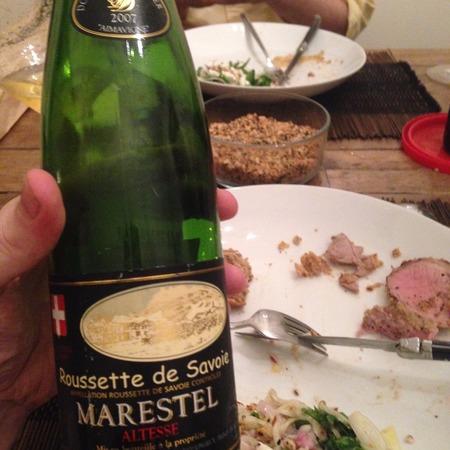 Domaine Dupasquier Marestel Roussette de Savoie Altesse 2007