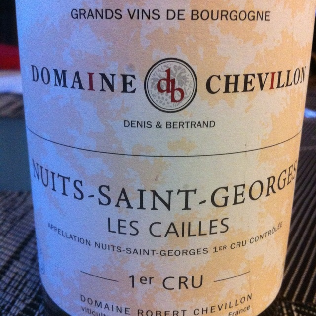 Les Cailles Nuits-Saint-Georges 1er Cru Pinot Noir 2011