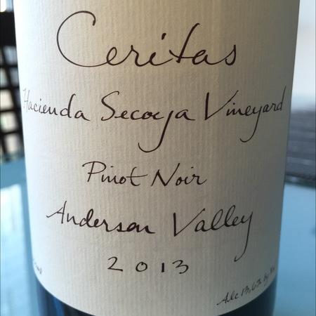 Ceritas Hacienda Secoya Vineyard Pinot Noir 2013
