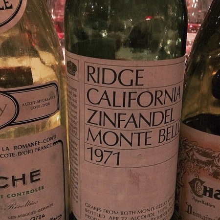 Ridge Vineyards Monte Bello Zinfandel 2010
