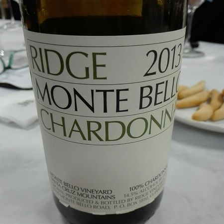 Ridge Vineyards Monte Bello Vineyard Chardonnay 2013
