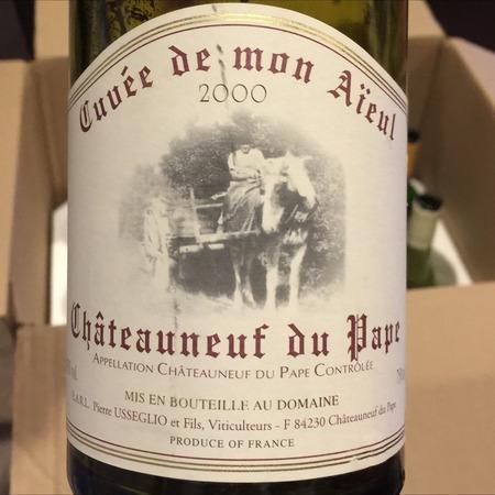 Domaine Pierre Usseglio & Fils Cuvée De Mon Aïeul Châteauneuf-du-Pape Red Rhone Blend 2000