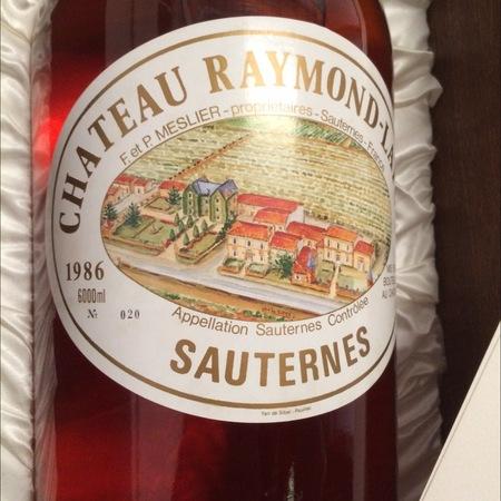 Château Raymond-Lafon Sauternes Sémillon-Sauvignon Blanc Blend 1986
