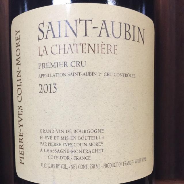 La Chatenière Saint-Aubin 1er Cru Chardonnay 2013