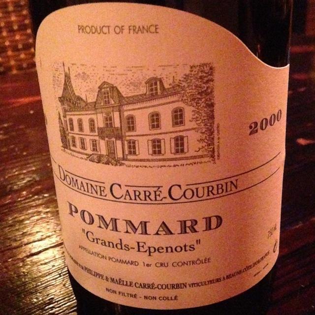 """""""Grands-Epenots"""" Pommard 1er Cru Pinot Noir 1999"""