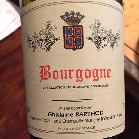 Domaine Ghislaine Barthod Bourgogne Pinot Noir 2014