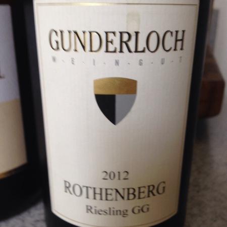 Gunderloch Rothenberg Riesling Großes Gewächs 2012