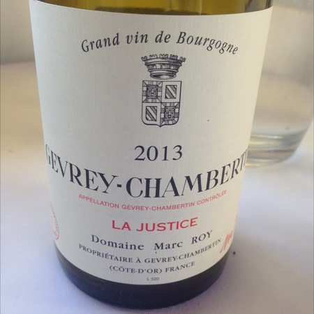 Domaine Marc Roy La Justice Gevrey-Chambertin Pinot Noir 2013