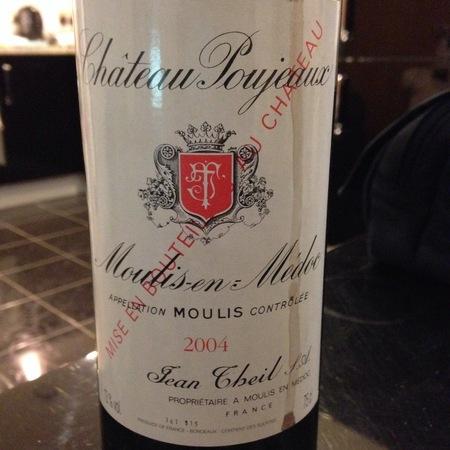 Château Poujeaux Moulis en Médoc Red Bordeaux Blend 2004
