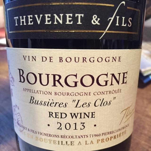 """""""Les Clos"""" Bourgogne Bussières Pinot Noir 2014"""