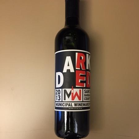 Municipal Winemakers Dark Red Santa Barbara County Cabernet Sauvignon Syrah Blend 2014