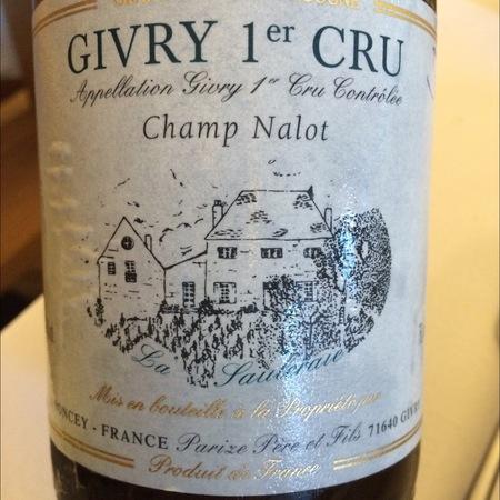 Domaine Parize Père et Fils Champ Nalot Givry 1er Cru Pinot Noir 2015