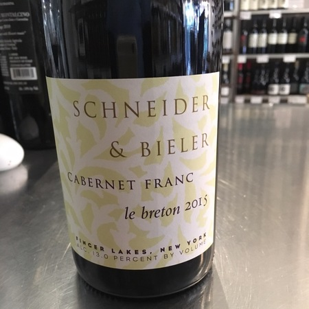 Schneider & Bieler Le Breton Finger Lakes Cabernet Franc 2015