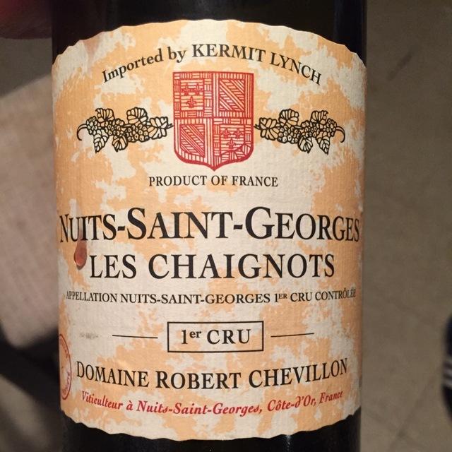 Les Chaignots Nuits-Saint-Georges 1er Cru Pinot Noir 2012