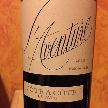 L'Aventure Côte à Côte Estate Paso Robles Red Rhone Blend 2014