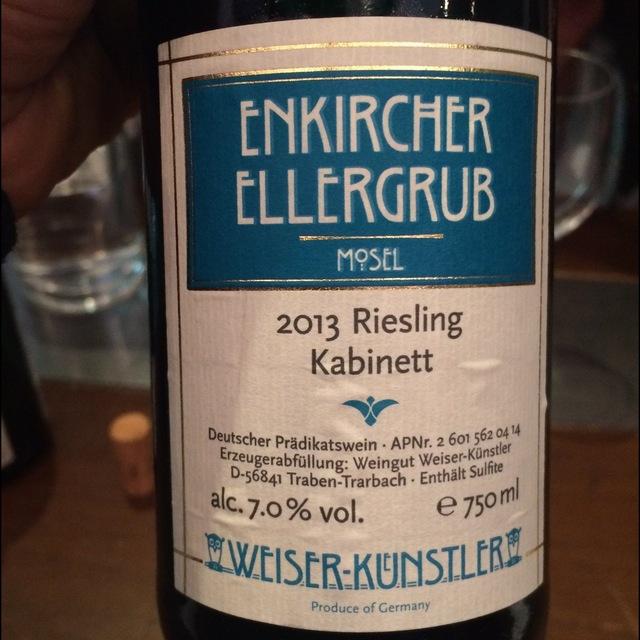 Enkircher Ellergrub Kabinett Riesling 2013