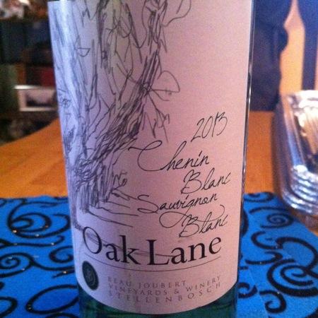 Beau Joubert Oak Lane Stellenbosch Chenin Blanc Sauvignon Blanc 2016