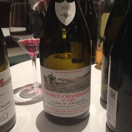 Domaine Armand Rousseau  Clos St. Jacques Gevrey-Chambertin 1er Cru Pinot Noir 2012