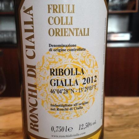 Ronchi di Cialla Friuli Colli Orientali Ribolla Gialla 2016