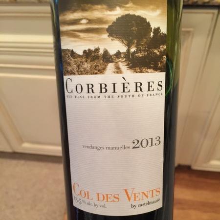 Société Cooperative Castelmaure Col des Vents Corbières Red Rhone Blend 2015
