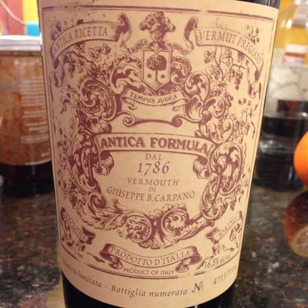 Fratelli Branca Distillerie Antica Formula Vermouth di Giuseppe B. Carpano NV