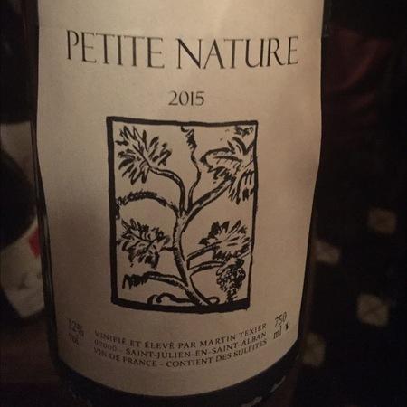 Martin Texier Petite Nature White Blend 2016