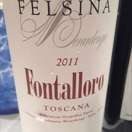 Fattoria di Fèlsina Berardenga Fontalloro Toscana Sangiovese 2011
