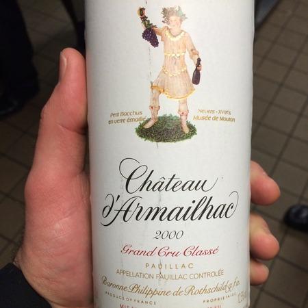 Château d'Armailhac Pauillac Red Bordeaux Blend 2000