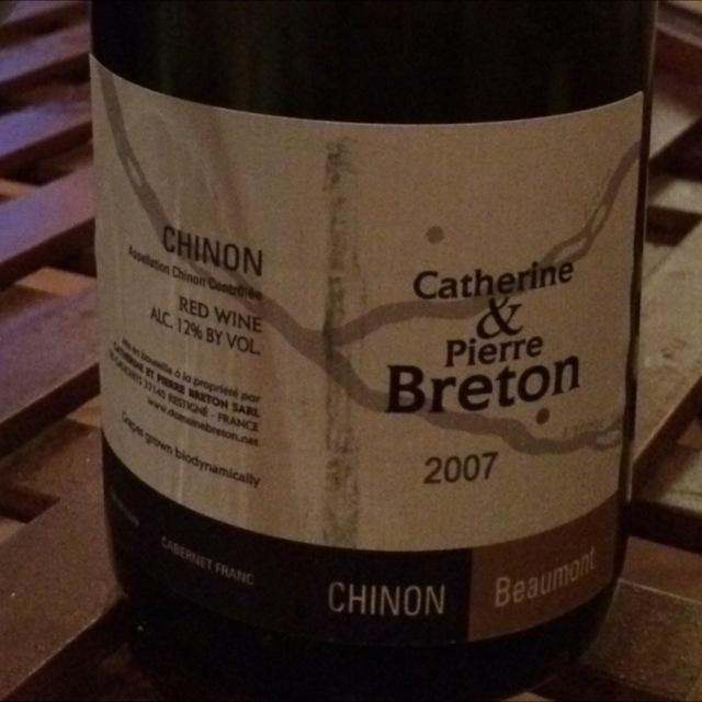 Beaumont Chinon Cabernet Franc 2007