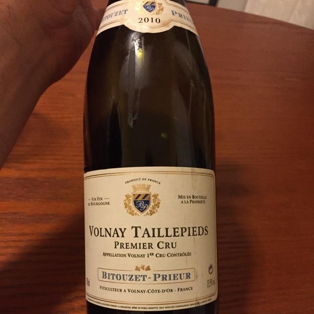 Taillepieds Volnay 1er Cru Pinot Noir 2010