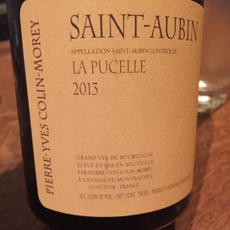 Pierre-Yves Colin-Morey La Pucelle Saint-Aubin Chardonnay 2014