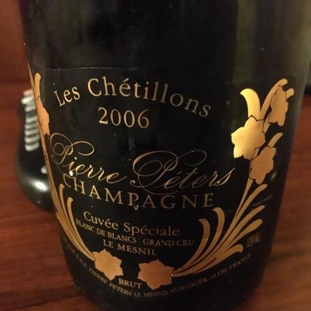 Pierre Péters Les Chétillons Cuvée Spéciale Brut Blanc de Blancs Grand Cru Champagne Chardonnay 2010