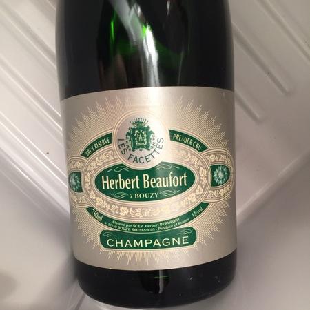 Herbert Beaufort Les Facettes Brut Reserve 1er Cru Champagne Blend