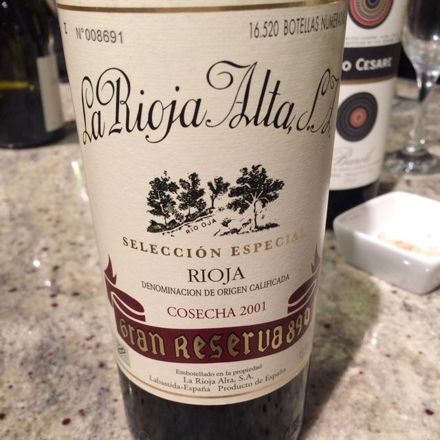 Selección Especial Gran Reserva 890 Rioja Tempranillo Blend 2001